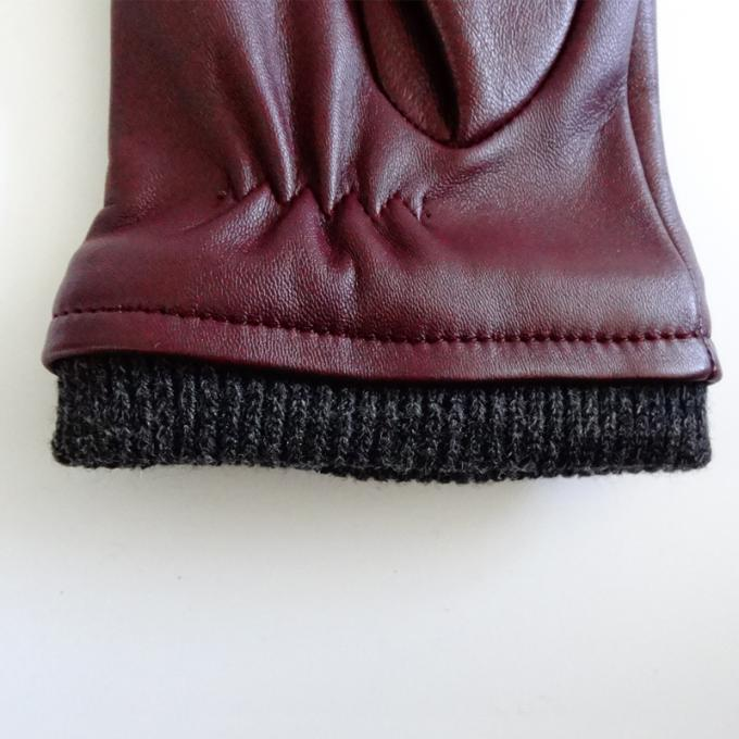 Ladies Soft Sheepskin Leather Wool Lining Leather Gloves Comfortable For Winter 1