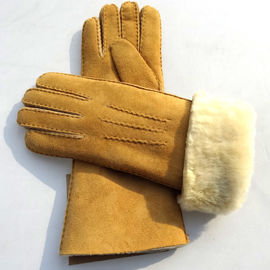 China Latest technology sheepskin yellow leather gloves supplier