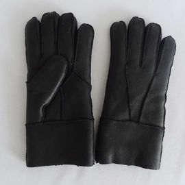 Wholesale winter warm split leather shearling gloves