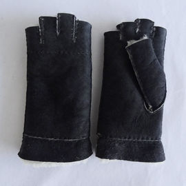 Wholesale promotional Shearling Sheepskin Gloves sheepskin fingerless gloves
