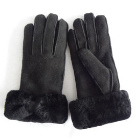 Customized winter warm double face Australia sheepskin shearling gloves