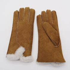 Wholesale customized original winter Australia sheepskin shearling gloves with real fur cuff