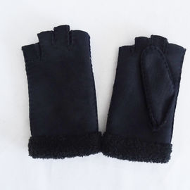 Classical hot sale Australia sheepskin double face fingerless gloves