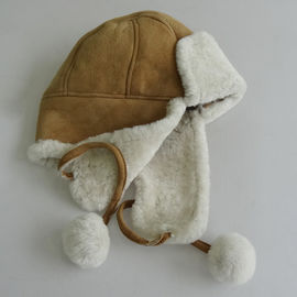 Machine Sewing Shearling Fur Hats For Riding / Hiking With ODM Designs