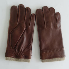 Classical Leather Shearling Gloves Leather Men Gloves Winter Knit Cuff