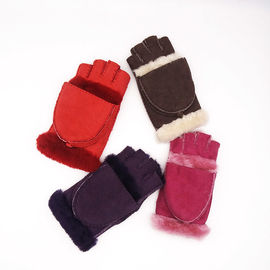 Multifunctional Sheep Skins Leather Mittens Touch Screen With Fingers