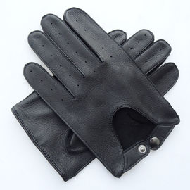 Wholesale high quality Deerskin Driving Machine Sewing Men leather gloves