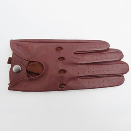 Sheepskin Hole Custom Driving Gloves , Leather Drivers Work Gloves Without Lining