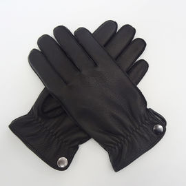 Elastic Mens Warm Dress Gloves , Men'S Deerskin Leather Gloves With Cuff