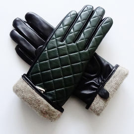 Wool Lined Sheepskin Leather Shearling Gloves Women'S Touchscreen Gloves With Belt