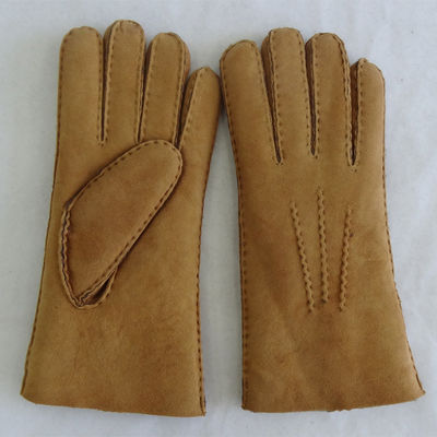Sheepskin Merino Lamb Fur Lined Leather Shearling Gloves