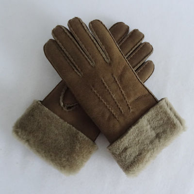 Women Warm Winter Handmade Shearling Fur Sheepskin Gloves