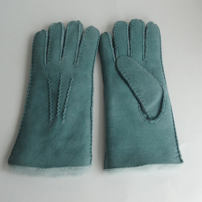 Fitting Hand Sewing Women Sheepskin Lamb Fur Gloves