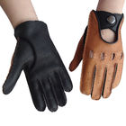 Customized Leather Driving Gloves Female / Male Deerskin Without Lining